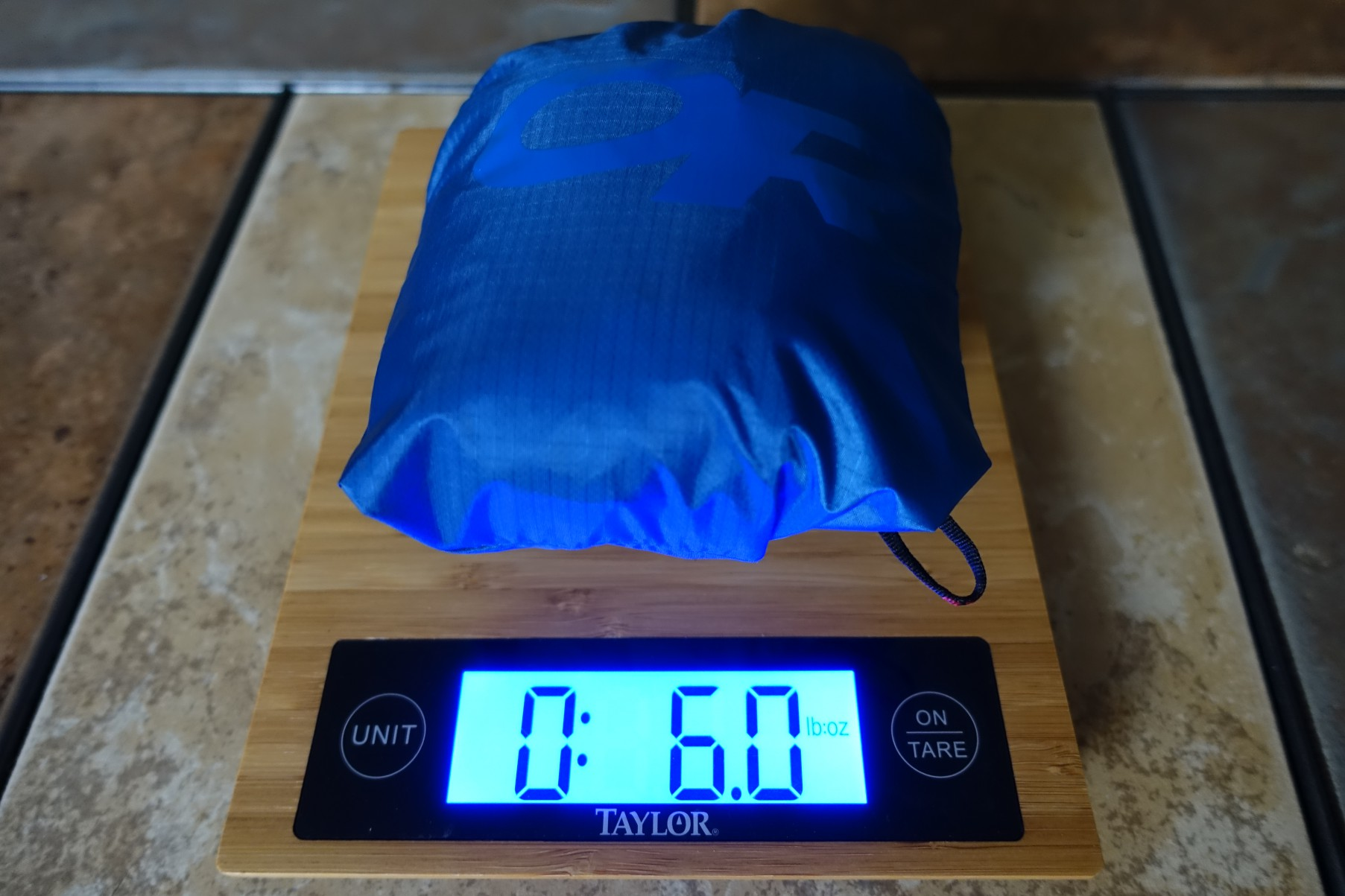 Weighing an OR Helium II Rain Jacket